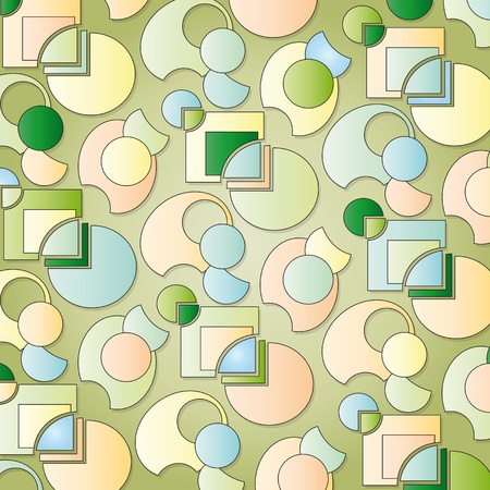 background with green shapes