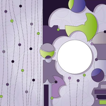 label on decorated violet background Illustration