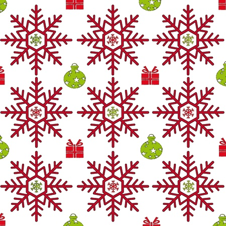 christmas background with decoration Illustration