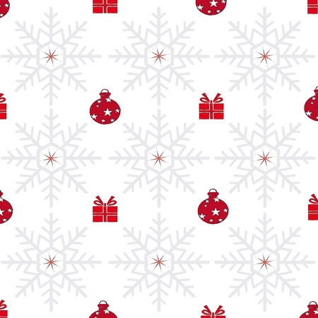 christmas background with red decoration Illustration