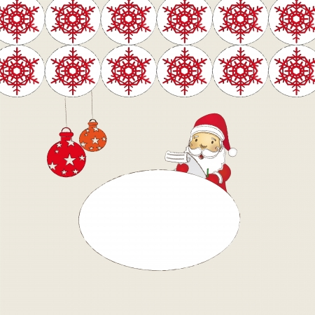 christmas background with santa claus  Illustration