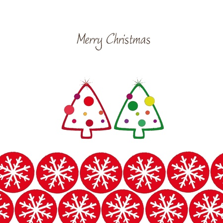 merry christmas greeting card Stock Vector - 16167643