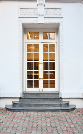 stately: Front Door of a Beautiful Stock Photo