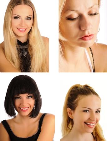 Beautiful women collage Stock Photo