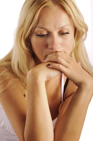 tear: Sad girl Stock Photo