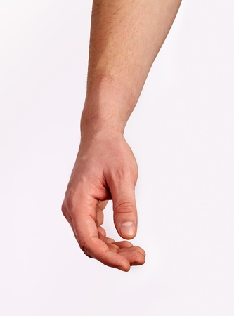 male parts: Relaxed male hand