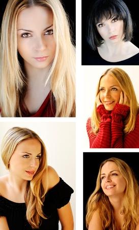 Beautiful girl collage Stock Photo