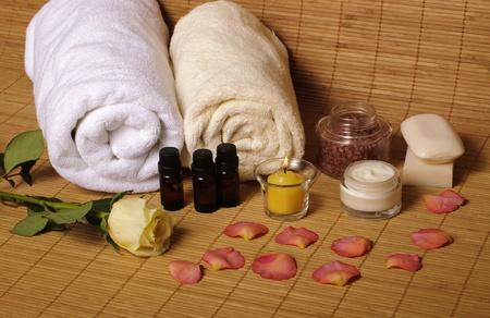 Romantic spa setting