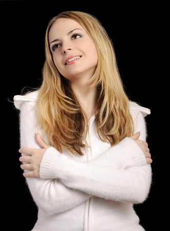 Girl in soft jumper photo