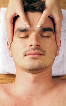 Man getting a face massage Stock Photo - 10981837