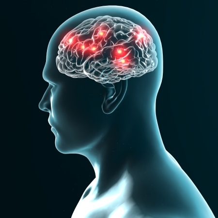 Agyi neuronok szinaptikus Stock fotó