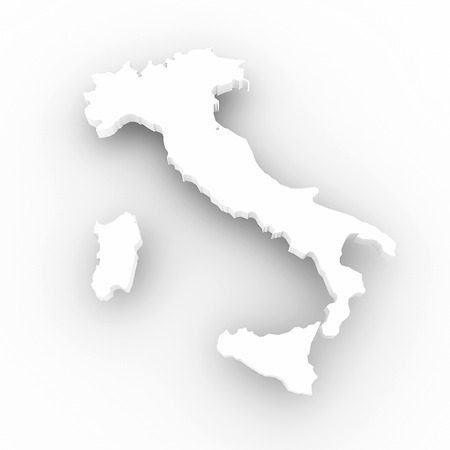 Three-dimensional map of Italy  3d