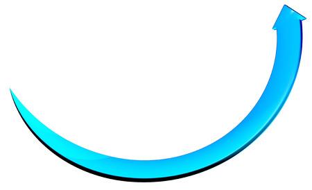 rendite: 3d freccia blu cerchio curva Archivio Fotografico