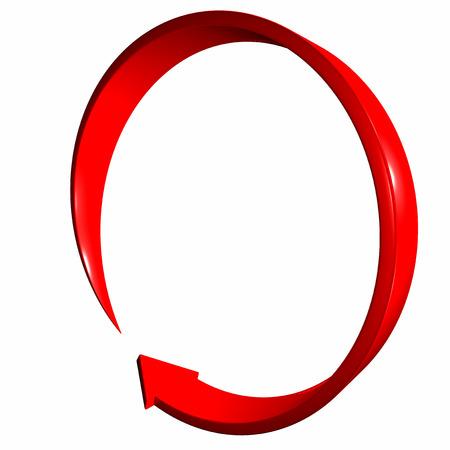 rendite: Rosso 3d freccia curva