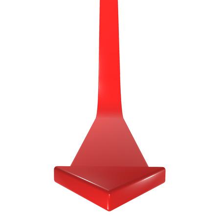 rendite: Rosso 3d freccia anteriore
