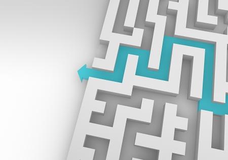 Pad in het labyrint  Stockfoto - 23260680