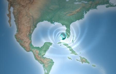 Tornado térképen Florida a Mexikói-öbölben
