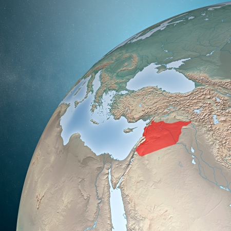 Middle East as seen from space  Syria  photo