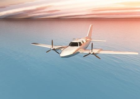twin engine: Small twin-engine plane Stock Photo