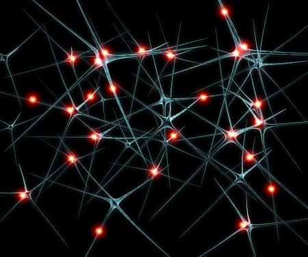 Agyi neuronok szinaptizálnak funkciók ilustration