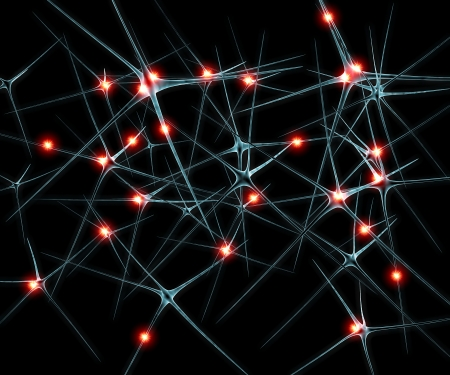 Brain neurons synapse functions ilustration Stock Photo - 23541408