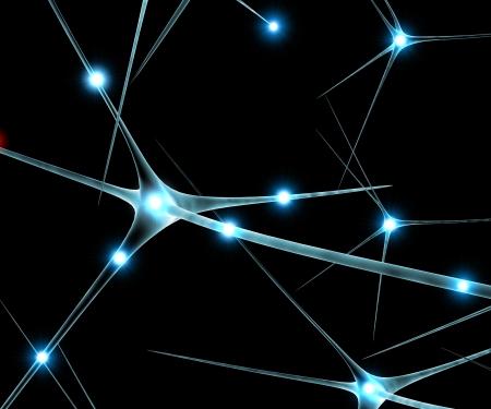 Gehirn Neuronen Synapse Funktionen sagenhaft Standard-Bild