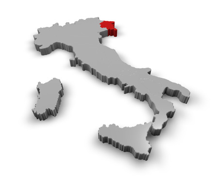 3d Map of Italy Regions Friuli Venezia Giulia photo