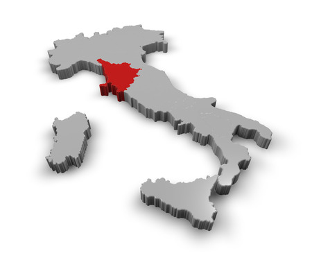 3d Map of Italy Regions Tuscany photo