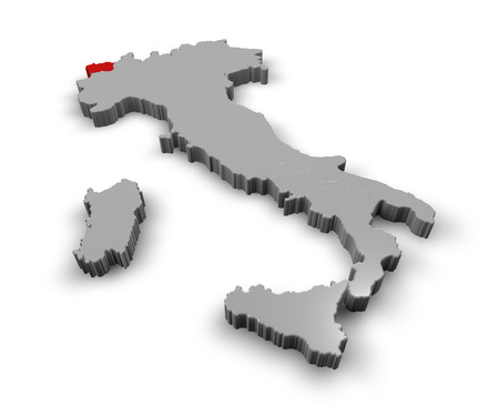 aosta: 3d Map of Italy Regions Aosta valley