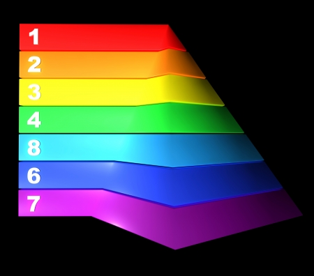 piramide nutricional: Ilustración ejemplos Infografía pirámide empresarial, pirámide de alimentación Foto de archivo