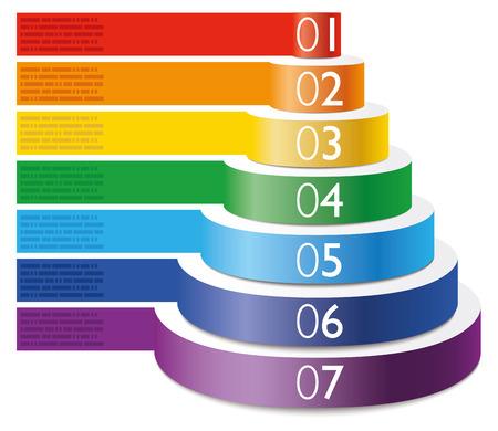 pyramid: Infographic examples food pyramid cake