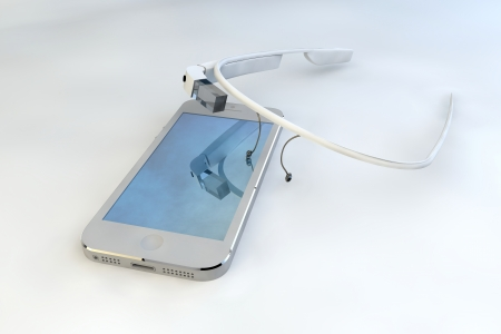 Mobile phone touch technology, interactive glasses, communication photo