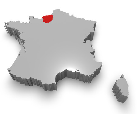 normandy: Upper Normandy administrative region on Map of France