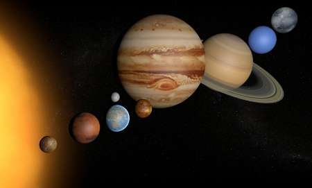 Solar System planets space universe sun  photo