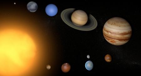 Naprendszer bolygók teret univerzumban nap Stock fotó