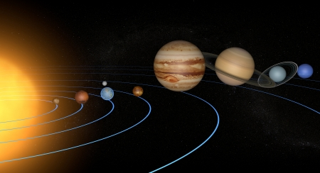 Układ Słoneczny planety przestrzeni wszechświata słońce Zdjęcie Seryjne