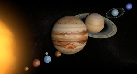 Solar System planets space universe sun Banco de Imagens - 25446422