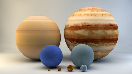 dimensions: Solar system, planets, sizes, dimensions