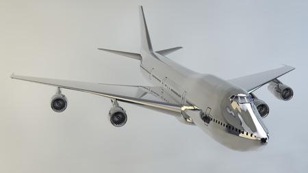 boeing 747: Aereo isolato boeing 747 Archivio Fotografico