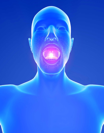 chirurgic: Male and throat inflammation pain Stock Photo