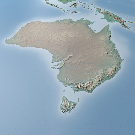 oceania: World Map, physical map, Australia, Oceania