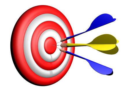 Darts target practice, aiming  photo