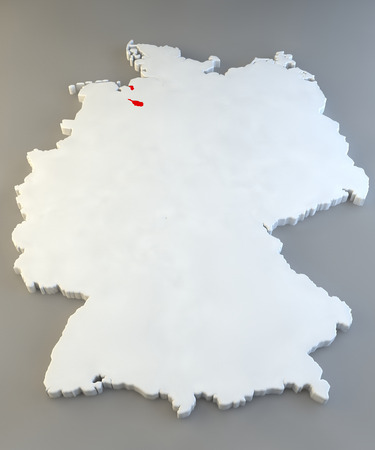 Germany region map, Bremen photo