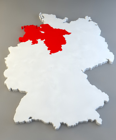 Germany region map, Niedersachsen photo