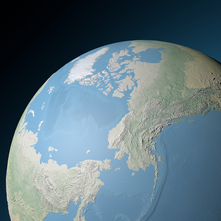World earth globe arctic, north pole  photo
