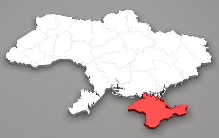 luhansk: Map of Ukraine, division regions, Crimea