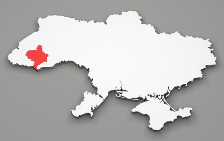 luhansk: Map of Ukraine, division regions, Ivano-Frankivsk Stock Photo