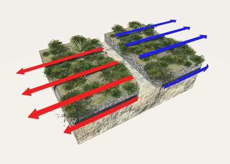 tectonics: Plate boundaries, divergent boundaries, earthquake Stock Photo