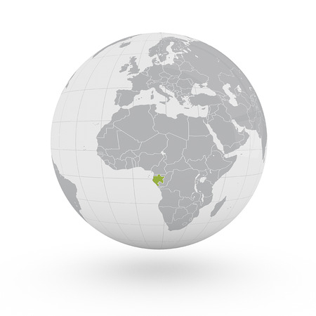 gabon: Globe Africa Gabon Stock Photo