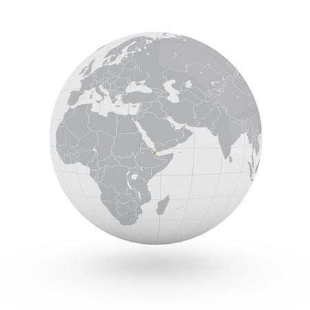 djibouti: Globe Africa Djibouti